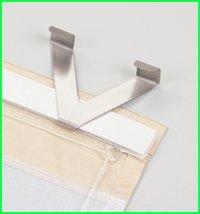 v fensterhaken f r raffrollos 2 er pack aluminium. Black Bedroom Furniture Sets. Home Design Ideas