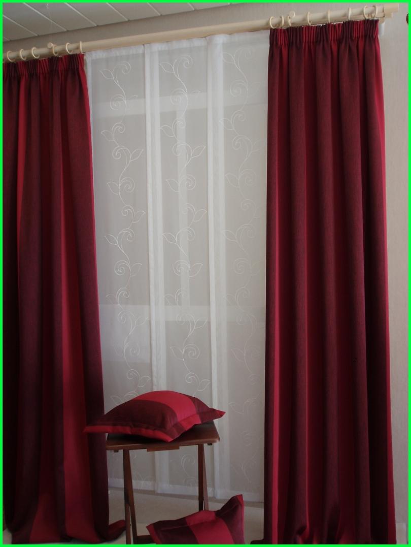 Fensterdekoration 4 Schiebegardinen 2 Schals rot