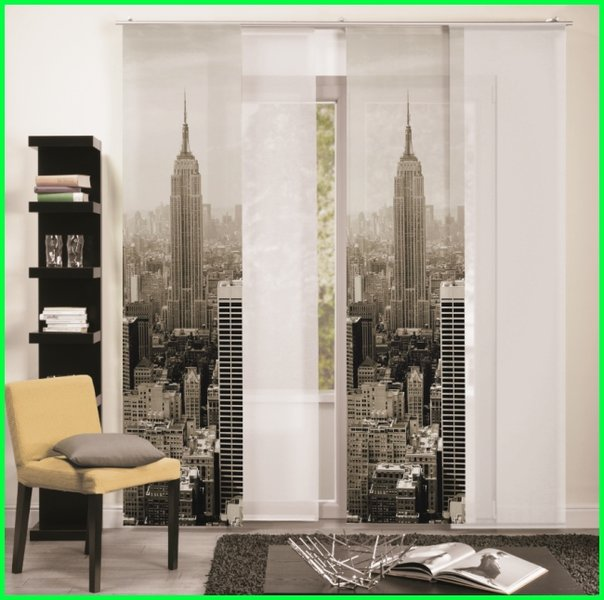 fl chenvorhang schiebegardine new york city digitaldruck. Black Bedroom Furniture Sets. Home Design Ideas