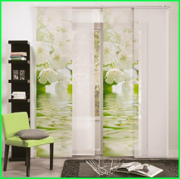 fl chenvorhang schiebegardine barcelona bl ht digitaldruck. Black Bedroom Furniture Sets. Home Design Ideas
