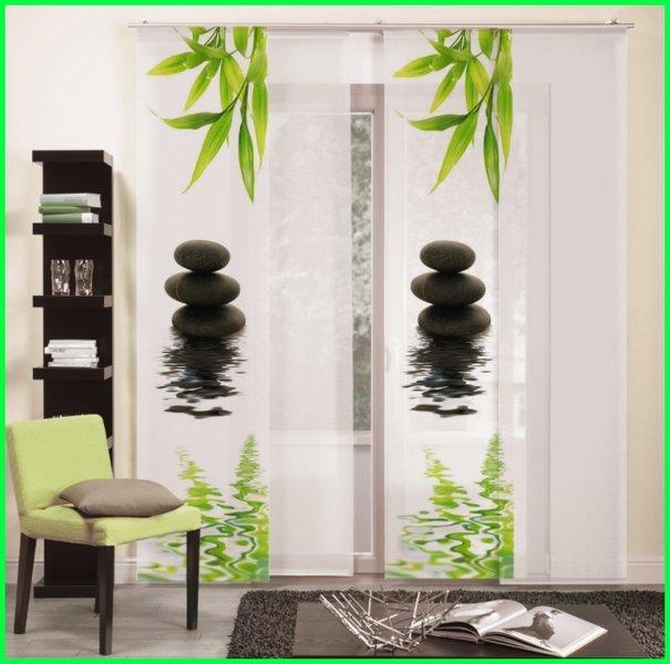 fl chenvorhang schiebegardine black stones digitaldruck. Black Bedroom Furniture Sets. Home Design Ideas